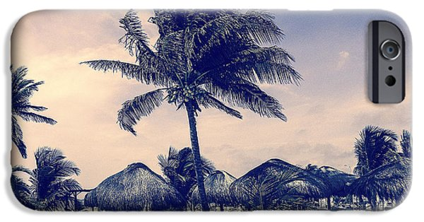 Wall Greeting Cards Digital iPhone Cases - Costa Maya Beach Day iPhone Case by Julie Palencia