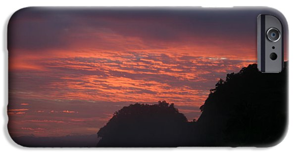 Jaco iPhone Cases - Costa Rica Sunset iPhone Case by Michelle Wiarda