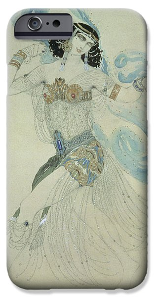 Ballet Dancers iPhone Cases - Costume Design For Salome In Dance Of The Seven Veils, 1909 Wc iPhone Case by Leon Bakst