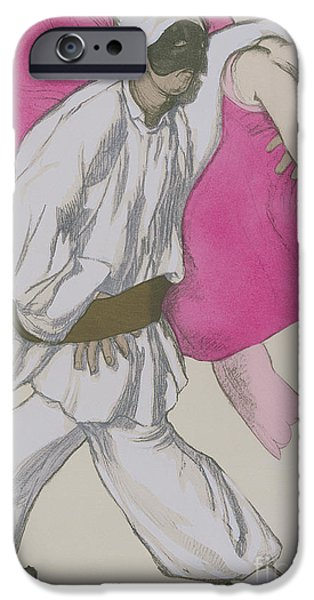 Operatic iPhone Cases - Costume Designs for Pamina and Monostatos in The Magic Flute iPhone Case by Leon Bakst