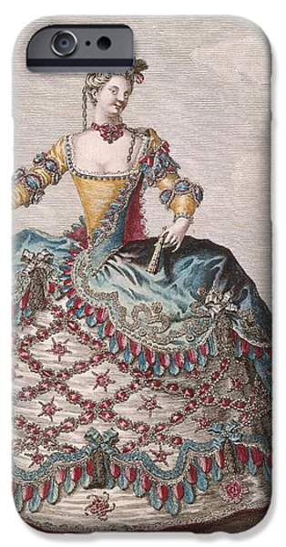 Ballet Dancers iPhone Cases - Costume For An Indian Woman For The Opera Ballet Les Indes Galantes By Jean-philippe Rameau iPhone Case by Jean Baptiste Martin