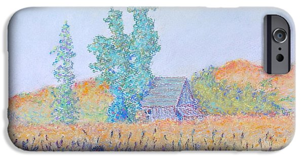 Barn Landscape Pastels iPhone Cases - Cotati Barn iPhone Case by Gary Govett