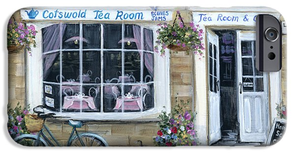 Flag iPhone Cases - Cotswold Tea Room iPhone Case by Marilyn Dunlap