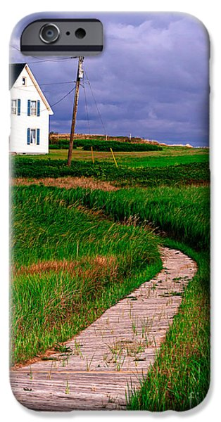 Cottage Among the Dunes iPhone Case by Edward Fielding