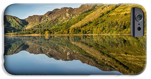 Autumn Digital iPhone Cases - Cottage by the Lake iPhone Case by Adrian Evans