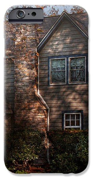 Cottage - Cranford NJ - Autumn Cottage  iPhone Case by Mike Savad
