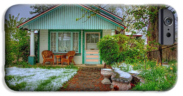 Prescott iPhone Cases - Cottage Garden In The Spring  iPhone Case by K D Graves