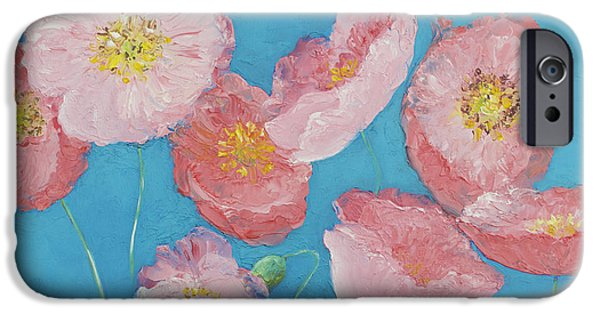 Flower Of Life iPhone Cases - Cottage garden poppies iPhone Case by Jan Matson