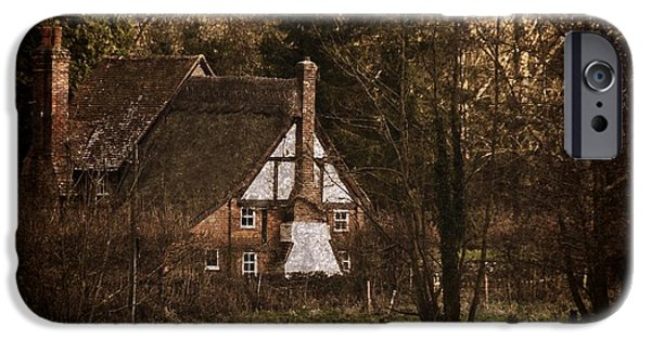 Overhang iPhone Cases - Cottage in the Woods iPhone Case by Ian Lewis