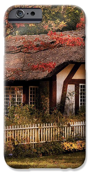 Cottage - Nana's House iPhone Case by Mike Savad
