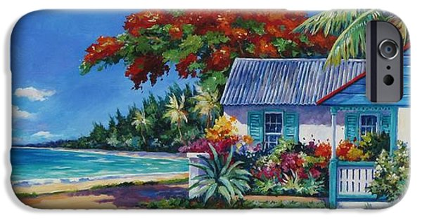 Flora iPhone Cases - Cottage on 7-Mile Beach iPhone Case by John Clark
