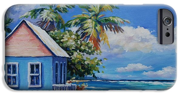 Naples iPhone Cases - Cottage on the Beach iPhone Case by John Clark