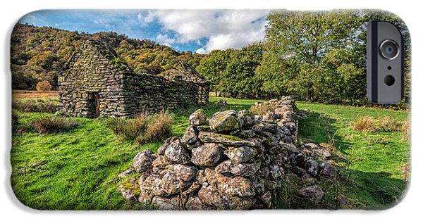 Fall Grass iPhone Cases - Cottage Ruin iPhone Case by Adrian Evans
