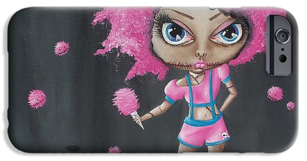 Recently Sold -  - Creepy iPhone Cases - Cotton Candy Zombie iPhone Case by Oddball Art Co by Lizzy Love