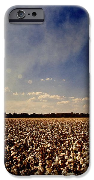 Cotton Field iPhone Case by Scott Pellegrin