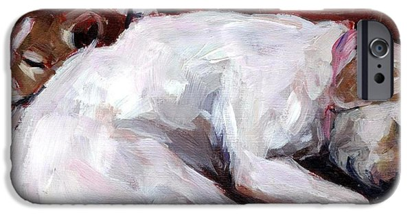 Mixed Labrador Retriever iPhone Cases - Cottonball iPhone Case by Molly Poole