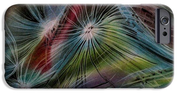 Umbrella Pastels iPhone Cases - Cottonseedcomp 10  iPhone Case by Glenn Bautista