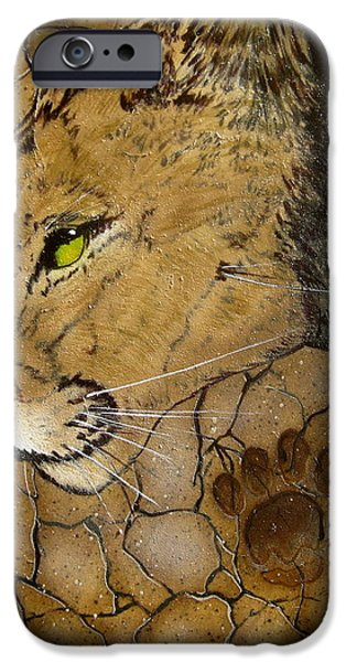 Cougar iPhone Case by Ethan  Foxx