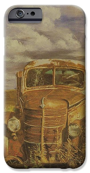 Michael Mixed Media iPhone Cases - Could I get a ride truck broke down iPhone Case by M and L Creations