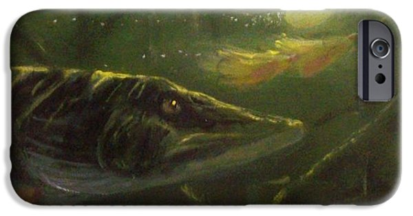 Musky Paintings iPhone Cases - COUNTDOWN - Musky iPhone Case by Peter McCoy