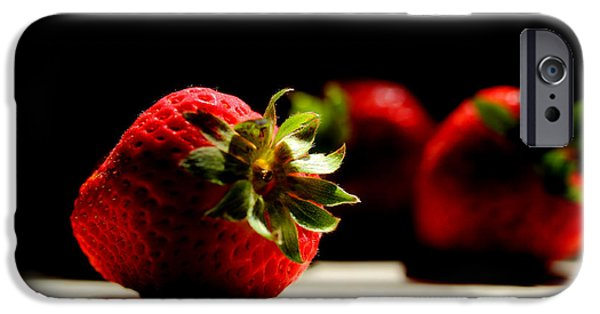 Strawberry iPhone Cases - Countertop Strawberries iPhone Case by Michael Eingle