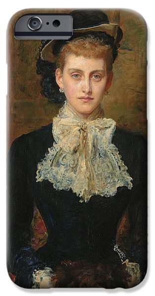 Countess iPhone Cases - Countess de Pourtales iPhone Case by Sir John Everett Millais