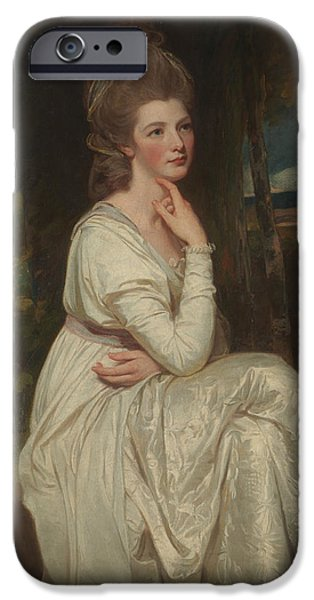 Countess iPhone Cases - Countess of Derb iPhone Case by George Romney