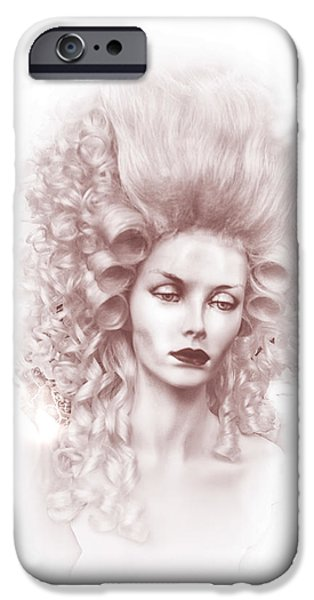 Countess iPhone Cases - CountessRose iPhone Case by Camille Lopez