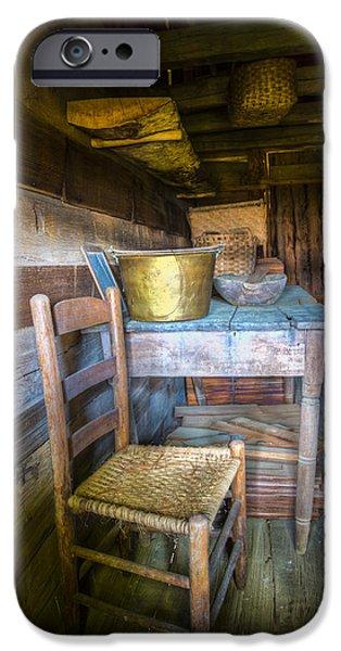 Interior Scene iPhone Cases - Country Cabin iPhone Case by Debra and Dave Vanderlaan