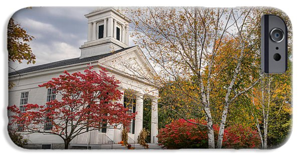 Autumn In New England iPhone Cases - Country Chapel iPhone Case by Bill  Wakeley