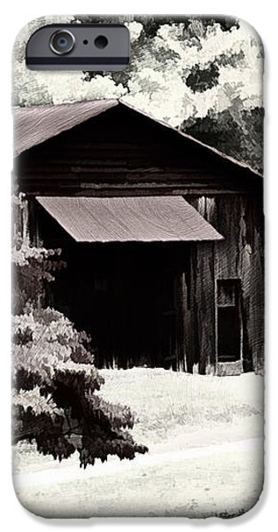 Country Charm In Dramatci BW iPhone Case by Darren Fisher
