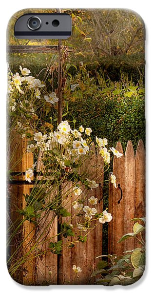 Country - Country autumn garden  iPhone Case by Mike Savad