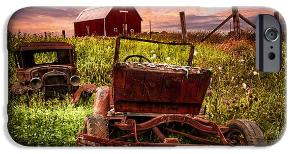 Quaker Photographs iPhone Cases - Country Cousins iPhone Case by Debra and Dave Vanderlaan