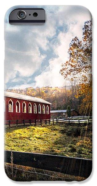 Country Covered Bridge iPhone Case by Debra and Dave Vanderlaan