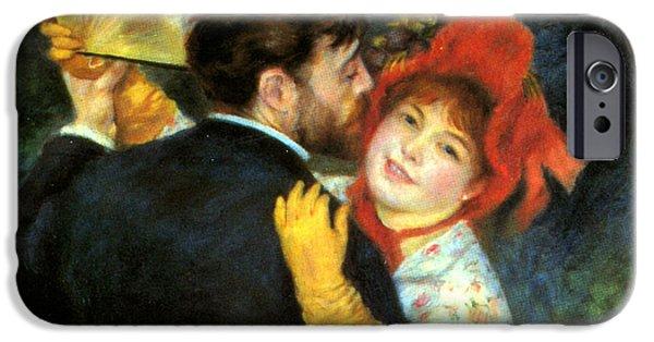 Pierre Auguste Renoir iPhone Cases - Country Dance Detail iPhone Case by Pierre Auguste Renoir