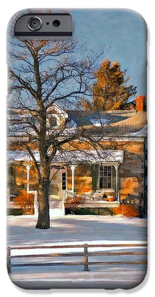 Country Home oil iPhone Case by Steve Harrington