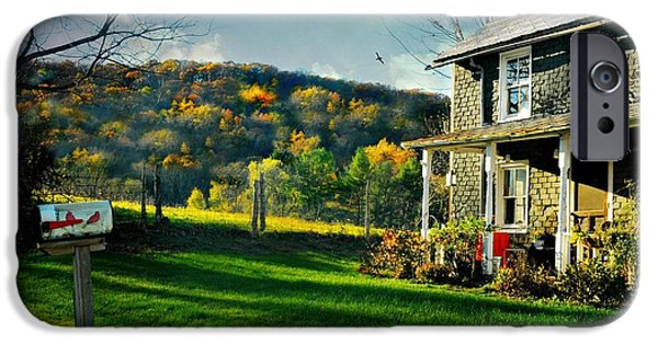 Autumn In The Country iPhone Cases - Country Home Style iPhone Case by Diana Angstadt