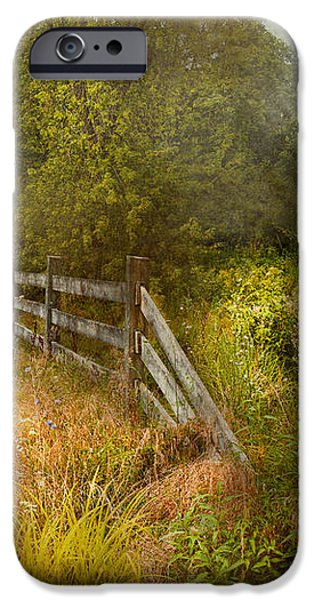 Country - Landscape - Lazy meadows iPhone Case by Mike Savad