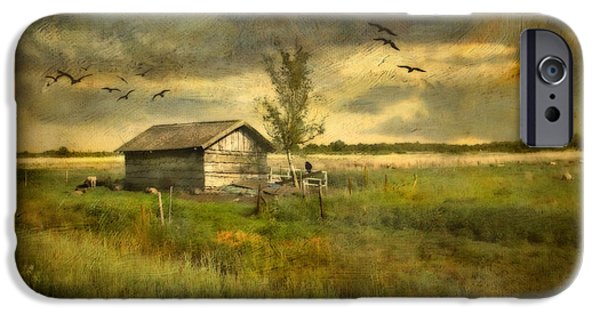 Meadow Photographs iPhone Cases - Country Life iPhone Case by Annie  Snel