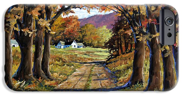 Canadiens Paintings iPhone Cases - Country Livin  iPhone Case by Richard T Pranke