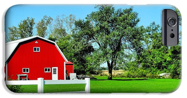 Old Barn iPhone Cases - Country Living iPhone Case by Dan Sproul