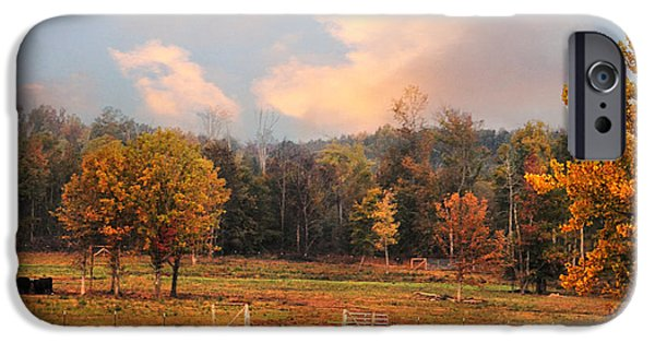 Autumn Scenes iPhone Cases - Country Morning iPhone Case by Jai Johnson