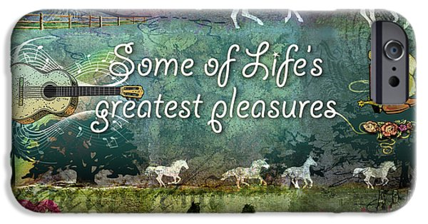 Pleasure Digital Art iPhone Cases - Country Pleasures iPhone Case by Evie Cook