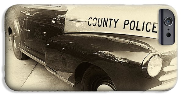Police Art iPhone Cases - Country Police antique toned iPhone Case by John Rizzuto