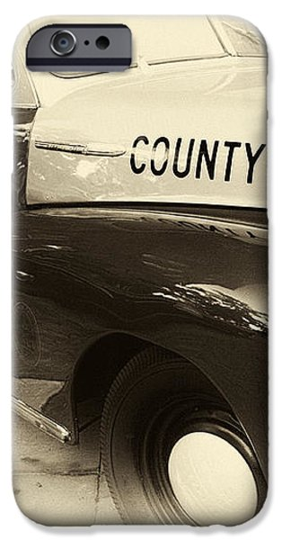 Country Police antique toned iPhone Case by John Rizzuto