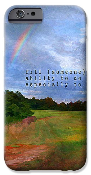 Country Rainbow iPhone Case by Darren Fisher