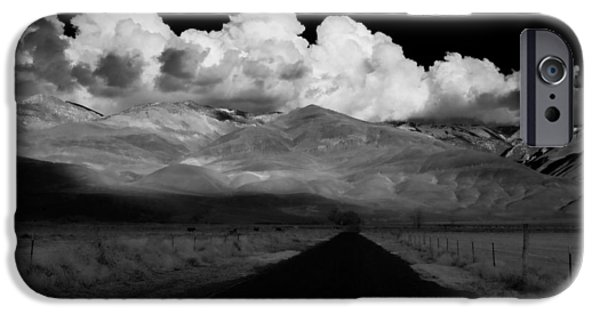 Clouds iPhone Cases - Country Road iPhone Case by Cat Connor
