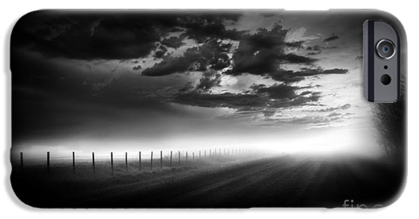Surreal Landscape Photographs iPhone Cases - Country Road iPhone Case by Dan Jurak