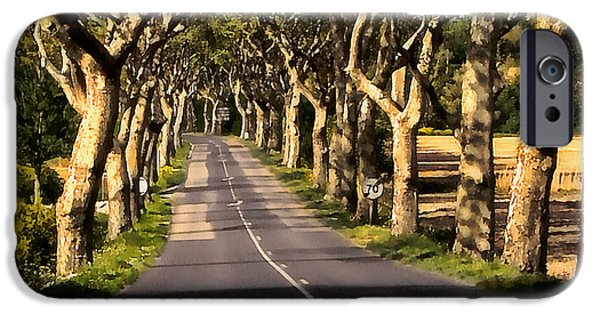 Canal Street Line iPhone Cases - Country Road in Southern France - Bram D4 iPhone Case by Menega Sabidussi