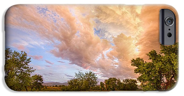 Corporate Photographs iPhone Cases - Country Road Into The Storm Front iPhone Case by James BO  Insogna